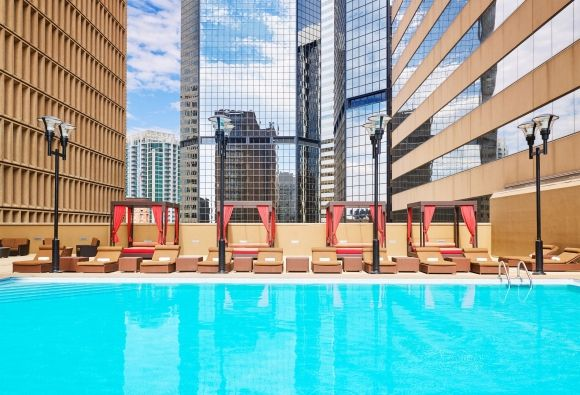 In One Of The Only Year Round Pools Downtown Denver Or Take Advantage Our Open Air Cabanas Pool Is Heated During Winter Months